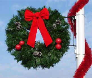 we provide a large selection of post and pole mounted christmas decorations for commercial retail and municipal holiday decorating needs - Municipal Christmas Decorations