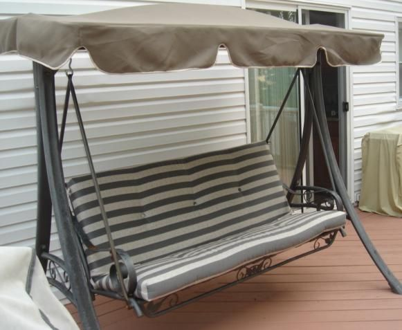 Outdoor Swing Cushions with Backs