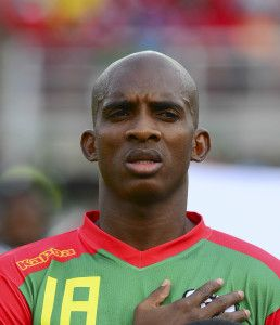 Charles Kabore of Burkina Faso during the 2015 Africa Cup of Nations football match between Equatorial Guinea and Burkina Faso at the Bata Stadium in Bata, Equatorial Guinea on 21 January 2015 ©Barry Aldworth/BackpagePix