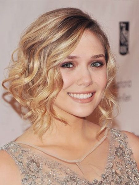 Even on bob hair, it looks perfect #waves #elizabetholsen