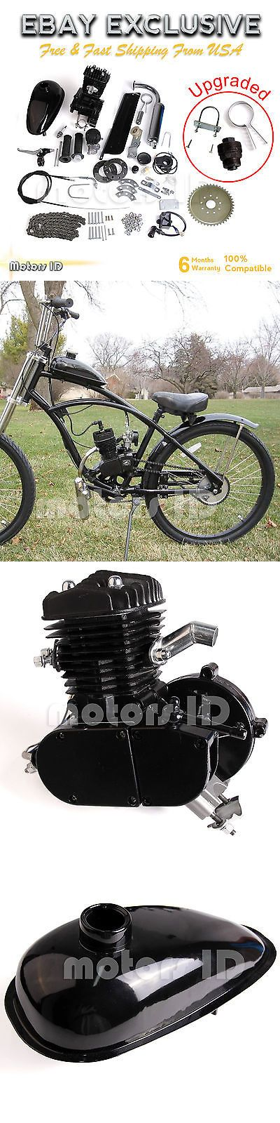 Gas Scooters 75211: Upgraded 80Cc 2-Stroke Motor Engine Kit Gas For Motorized Bicycle Bike Black -> BUY IT NOW ONLY: $112 on eBay!