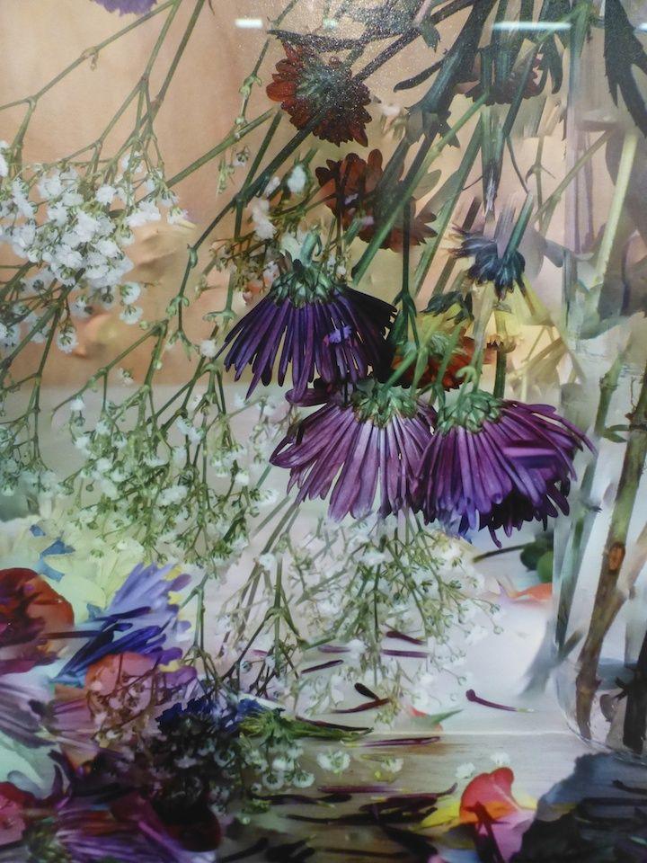Flower arrangement photo by Vik Muniz detail. Seen at The Armory Show 2016.