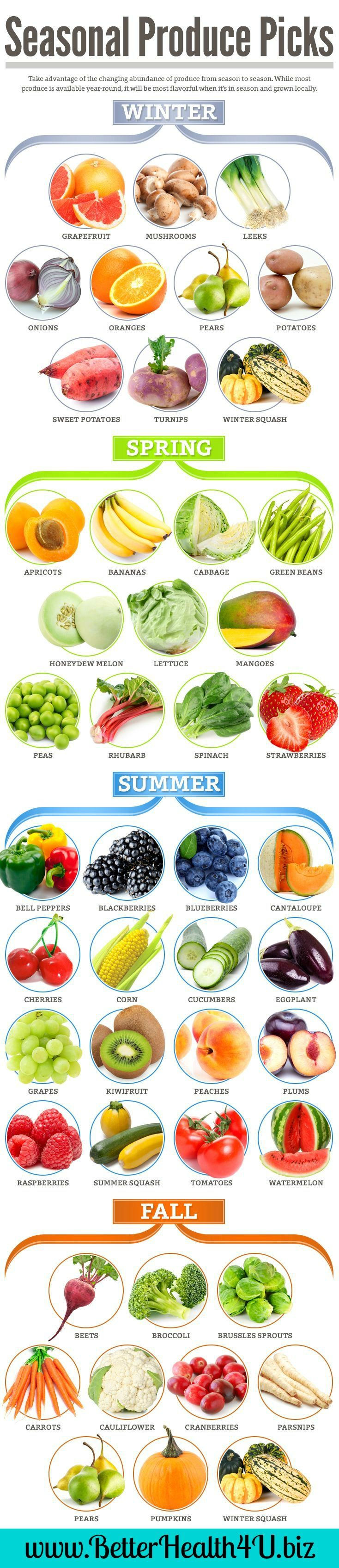 See what is freshest for that season, get additional fruits and vegetables with JP learn more at www.BetterHealth4U.biz