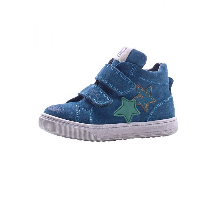 NATURINO CLAY – Leather sneakers – Petroleum Blue - Sneakers - Boy