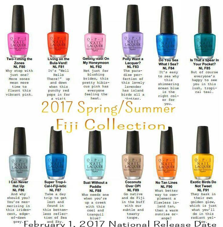 My next polish collection OPI 2017