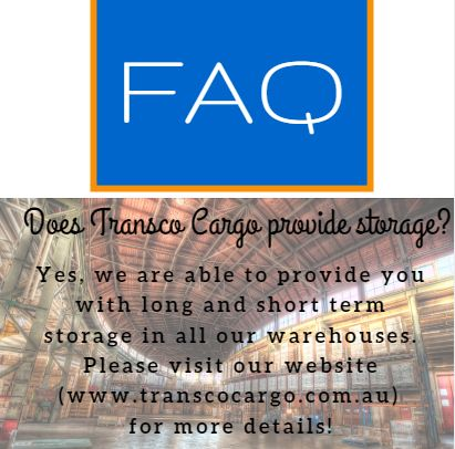 Does Transco Cargo provide storage?Yes, we are able to provide you with long and short term storage in all our warehouses. Please visit our website (www.transcocargo.com.au) for more details!#TranscoCargo #Warehousing #StorageSpace
