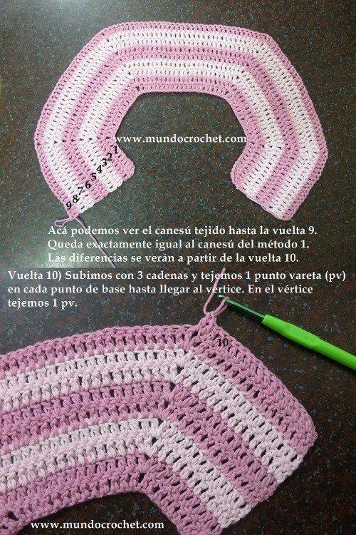 Como tejer un saco, campera, cardigan o chambrita a crochet o ganchillo desde el canesu14