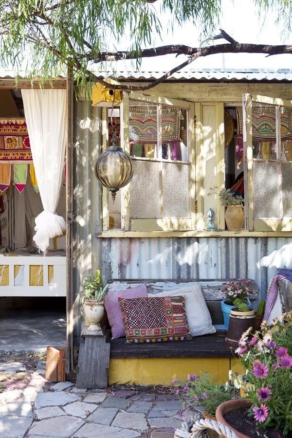 Bohemian Style Backyards :  Metzger on No Place Like Home  Pinterest  Boho, Bohemian and Outdoor