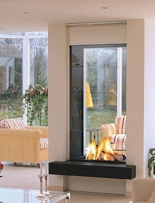 376 best See Thru Fireplaces images on Pinterest | Modern ...