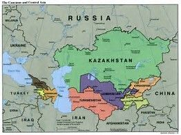 Image result for Russia and Central Asia Map