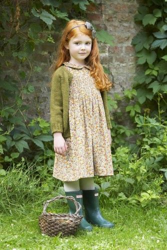 Enid cardigan, and lovely Iris dress in Autumn Posy print | Lulu and Flo