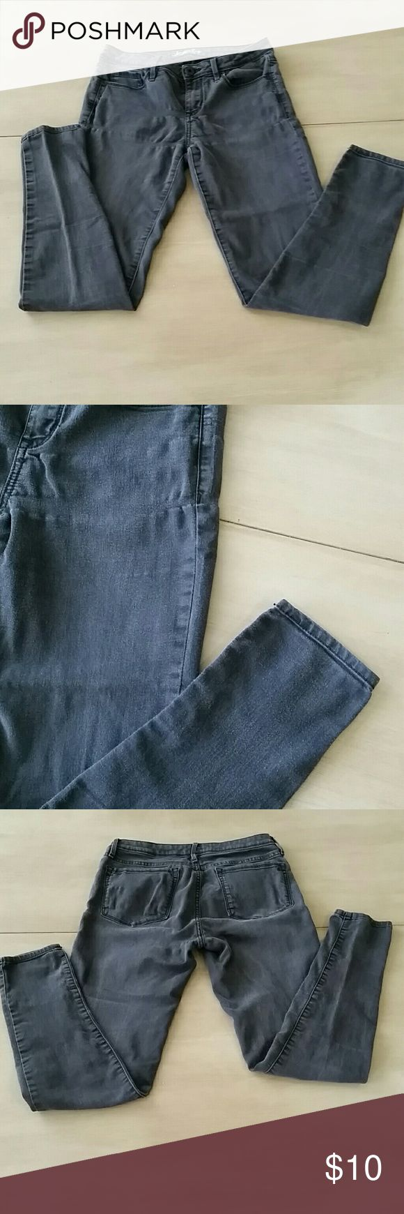 American Rag Black Skinny Jeans These are American Rag Black Skinny Jeans. They are faded, but for some reason I love a faded black skinny. Wear them straight or cuffed with a cute heel or bootie. They are a little high waisted. Size 5 in American Rag. American Rag  Jeans Skinny