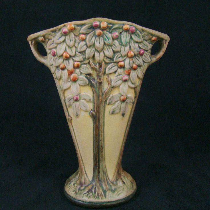 Antique Arts u0026 Crafts Weller Art Pottery Fan Vase : Arts and Crafts : Pinterest