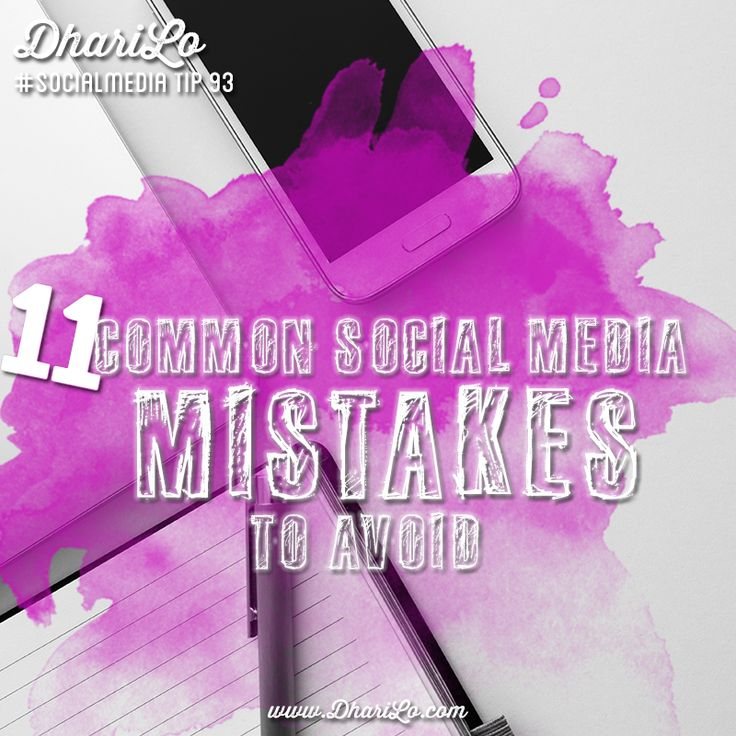 Are you making any of these common #socialmedia mistakes?