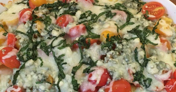 Savory Tomato Blue Cheese Polenta