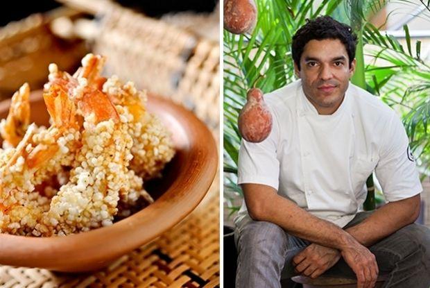 Camarão empanado em farinha de tapioca: receita de Thiago Castanho, chef do Remanso do Peixe e do Remanso do Bosque, em Belém (PA). Fotos: Tadeu Brunelli / Romero Cruz.