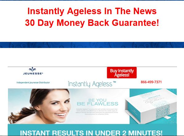 Instantly Ageless - 30 Day Money back Guarantee!  BUY IT HERE! http://earntoday.jeunesseglobal.com/products.aspx?p=INSTANTLY_AGELESS Distributors Wanted! http://instantlybotox.com/opportunity/   #instantlyageless #instantlyagelessreview #jeunesse