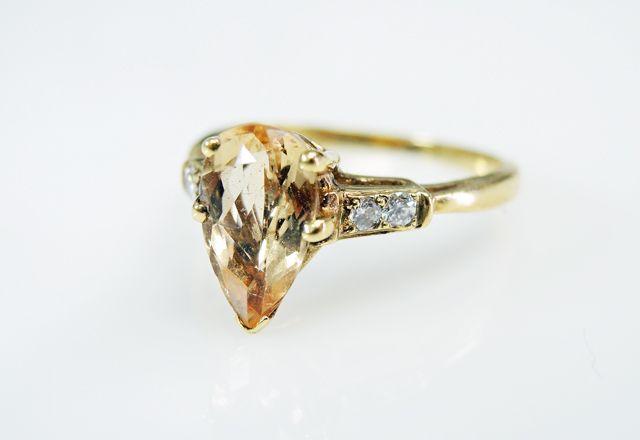 Beautiful Pear Topaz  #engagement #topaz #diamond