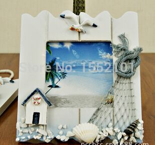 decorated picture frames   Hot sale Mediterranean style Wooden Photo Frame Base Picture 1 piece ...