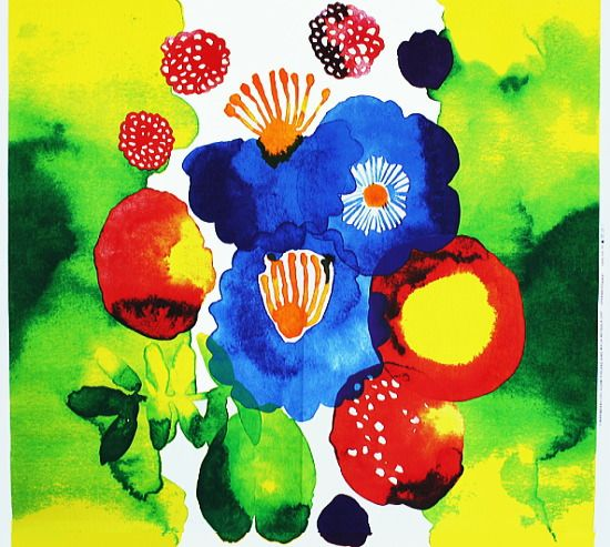 Marimekko - Finnish beautiful design if fabric prints. Love the colors.