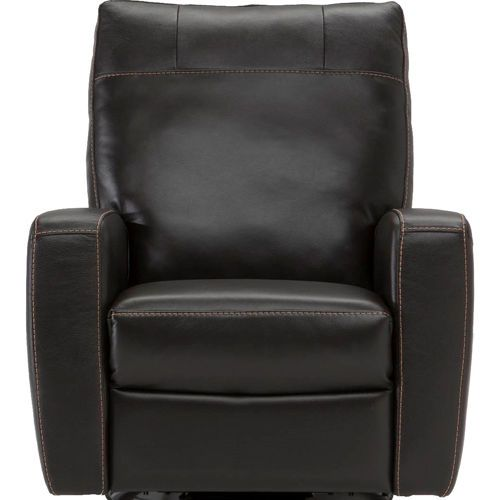 Natuzzi Top Grain Italian Leather Glider Recliner Living