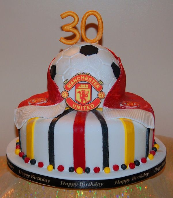 19 Best Manchester United Cakes Images On Pinterest