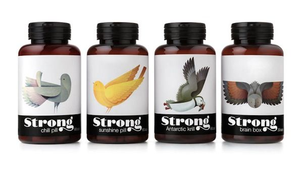 Nutrition Supplements illustrated packaging