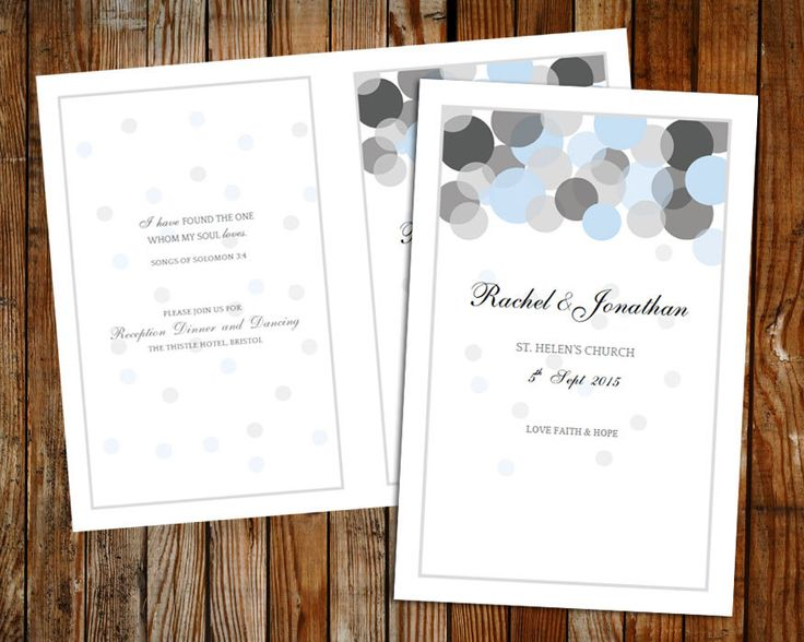 a personal favourite from my etsy shop httpswwwetsycom diy wedding programswedding