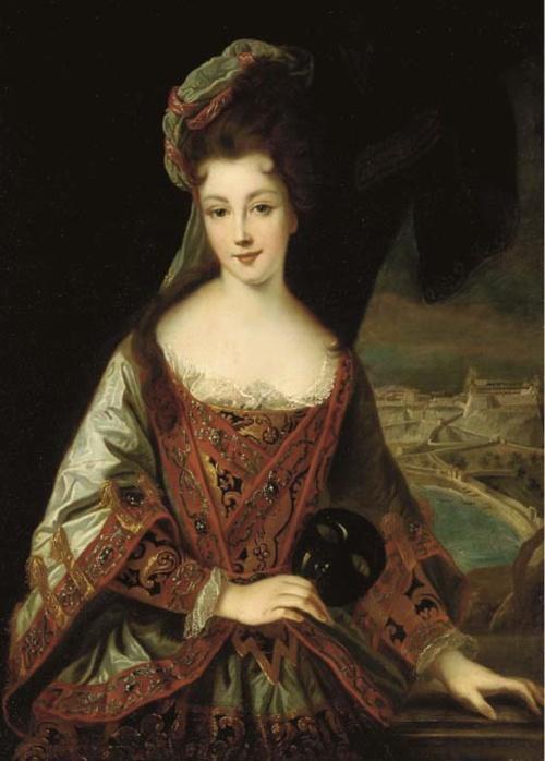 Marie Adelaide de .Savoie, Duchesse de Bourgogne by Jean-Baptiste Santerre studio.