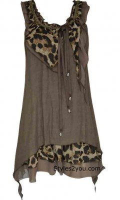 Pretty Angel Clothing Amica Opera Blouse In Coffee
