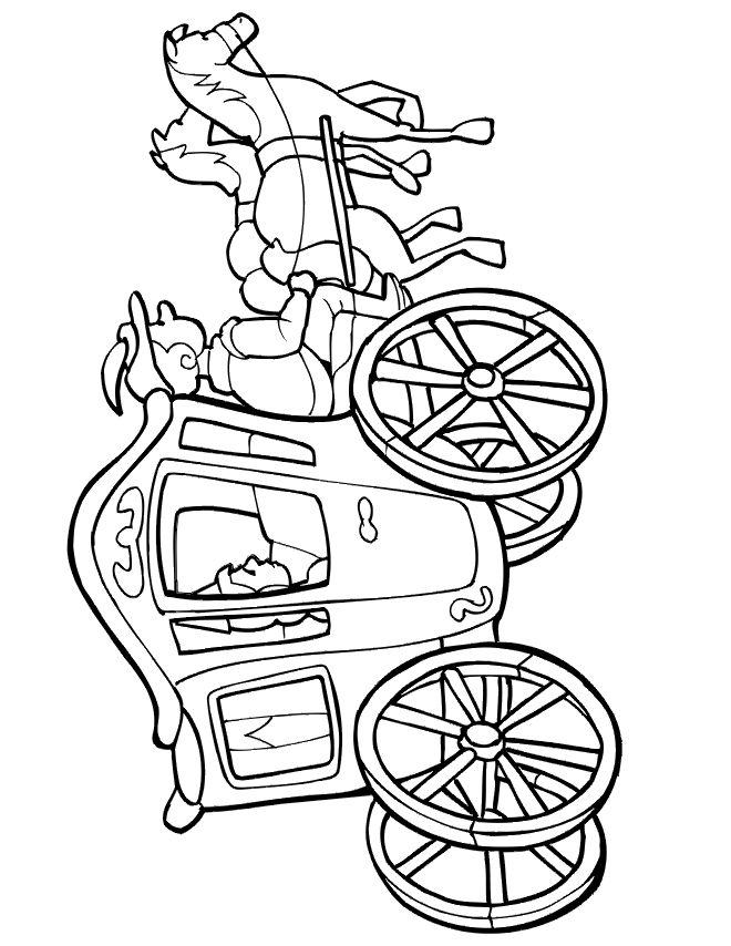 for children who really like horse and carriages this printable coloring page activity of two horses pulling a carriage is an excellent option