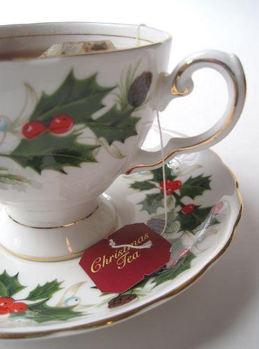 Tea With Friends: Christmas Tea in a Christmas teacup