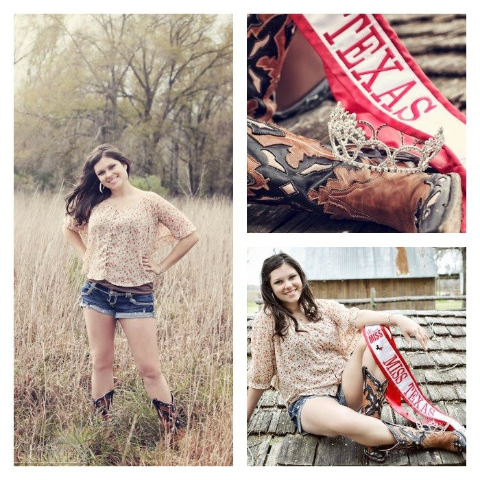 """""""My first USA National Miss Texas photoshoot in my Resistol Ranch boots by Lucchese Boot Co. I get so many compliments on these boots all the time!"""" - J. Tucker"""