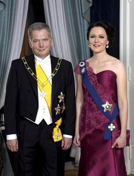 Rouva Jenni Haukio ja presidentti Sauli Niinistö itsenäisyyspäivänä 2015.