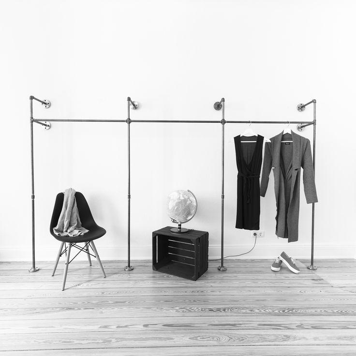 industriedesign aus stahlrohr kleiderschrnke kleiderstnder kleiderstangen modulare und offene kleiderschranksysteme garderoben