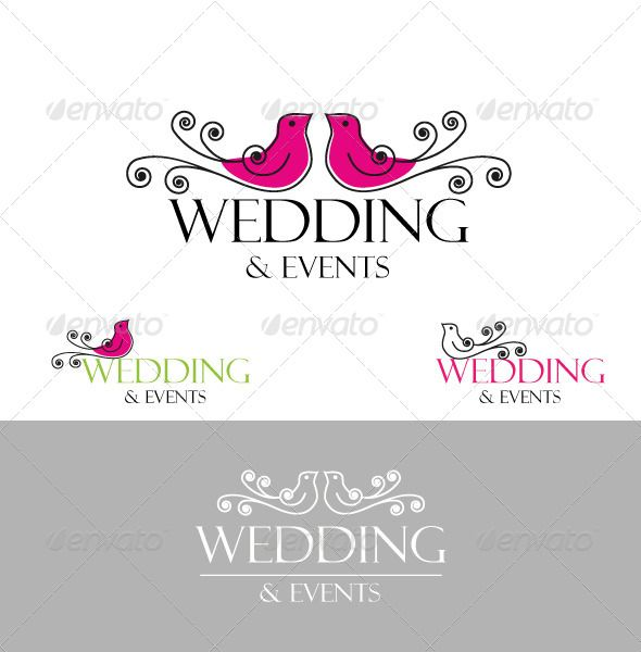 806 best wedding logo template images on pinterest logo templates doves wings logowedding junglespirit Images