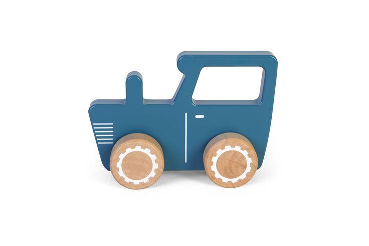 Twee Ons Geluk - Little Dutch Tractor Hout Mixed Stars Mint Jongens Decoratie - Binnen spelen