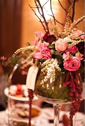 L'Heure du Thé event in 2011. Flower arrangements by Domain Flowers.