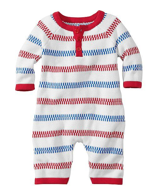Stripey Sweater Romper from #HannaAndersson.
