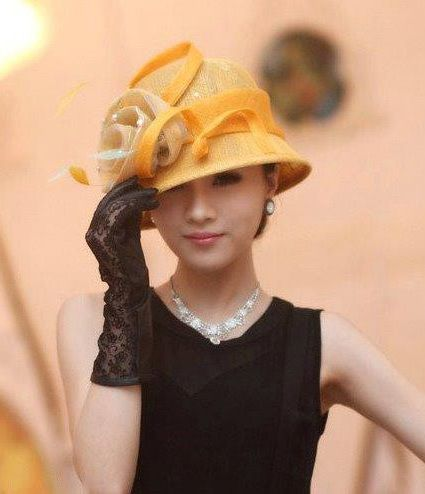 """""""Louise"""" Yellow Hat Fascinator $89.95 includes FREE Shipping Australia Wide"""