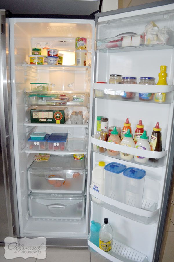 Cleaning your fridge - ideas from The Organised Housewife