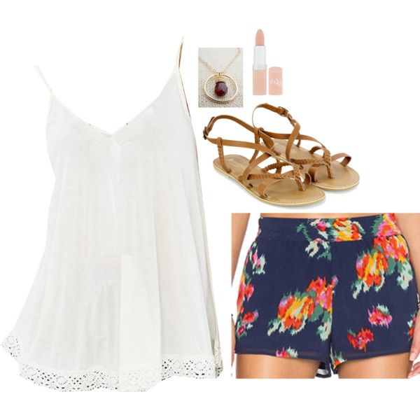 A fashion look from November 2015 featuring Ecote tops, Joie shorts i Accessorize sandals. Browse and shop related looks.