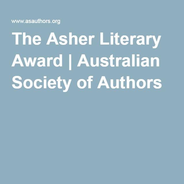 The Asher Literary Award | Australian Society of Authors