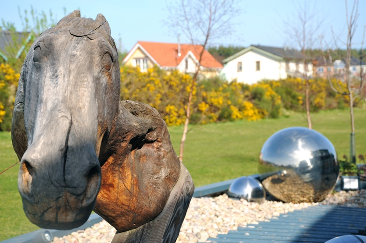 Outside Findhorn gallery