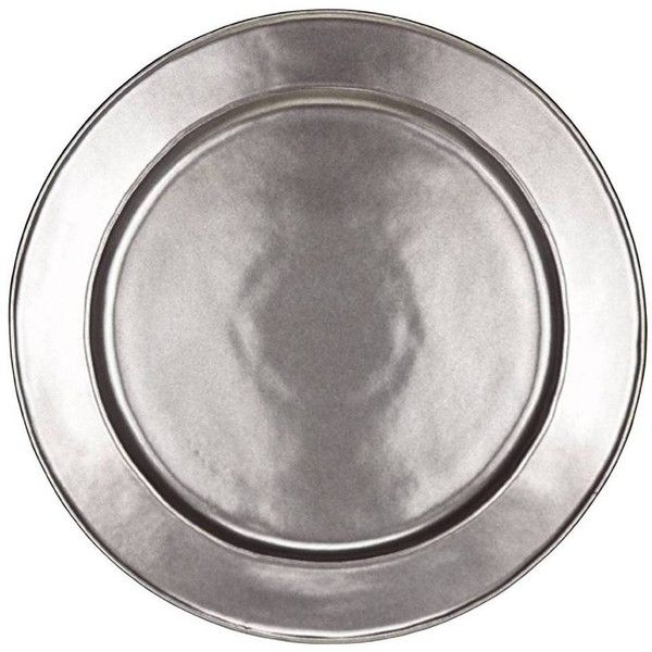 Juliska Pewter Stoneware Charger Plate By 75 Liked On Polyvore Featuring Home Stoneware Dinnerwaremodern
