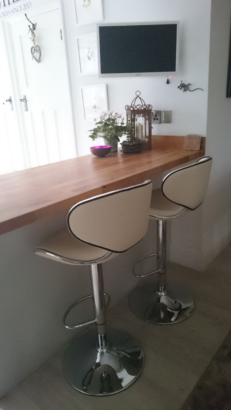 One Of Our Best Sellers; The Carcaso Cream Bar Stool Looks Great At This  Kitchen