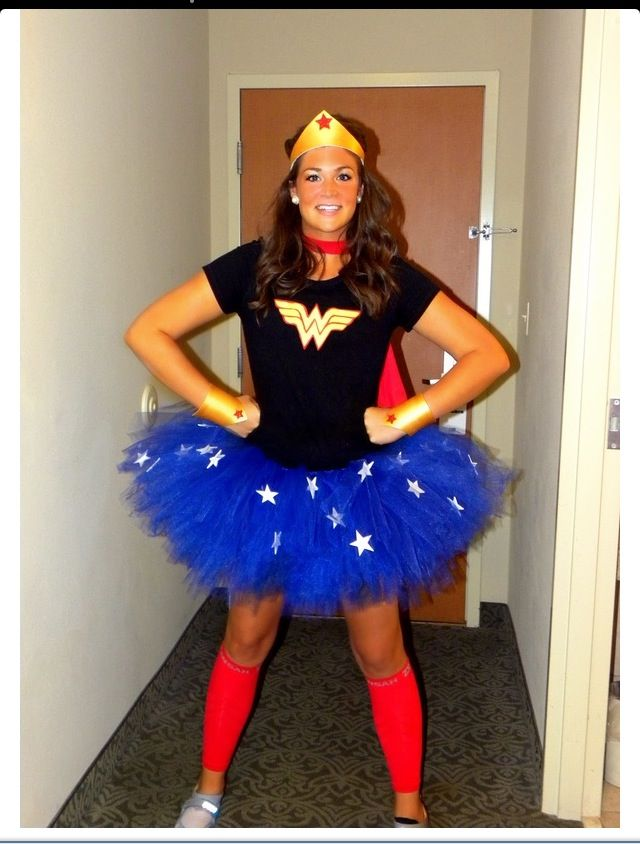 a modest sporty wonder woman - Modest Womens Halloween Costumes