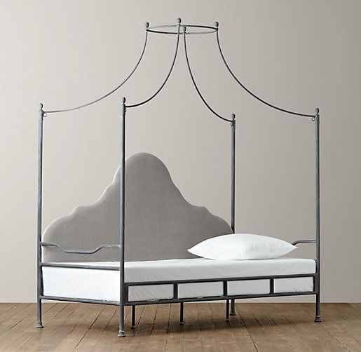 Allegra iron canopy daybed daybeds restoration for Childrens iron beds