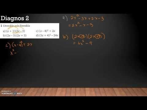 Matematik 5000 2bc VUX - Kapitel 2 - Algebra och icke-linjära modeller -...