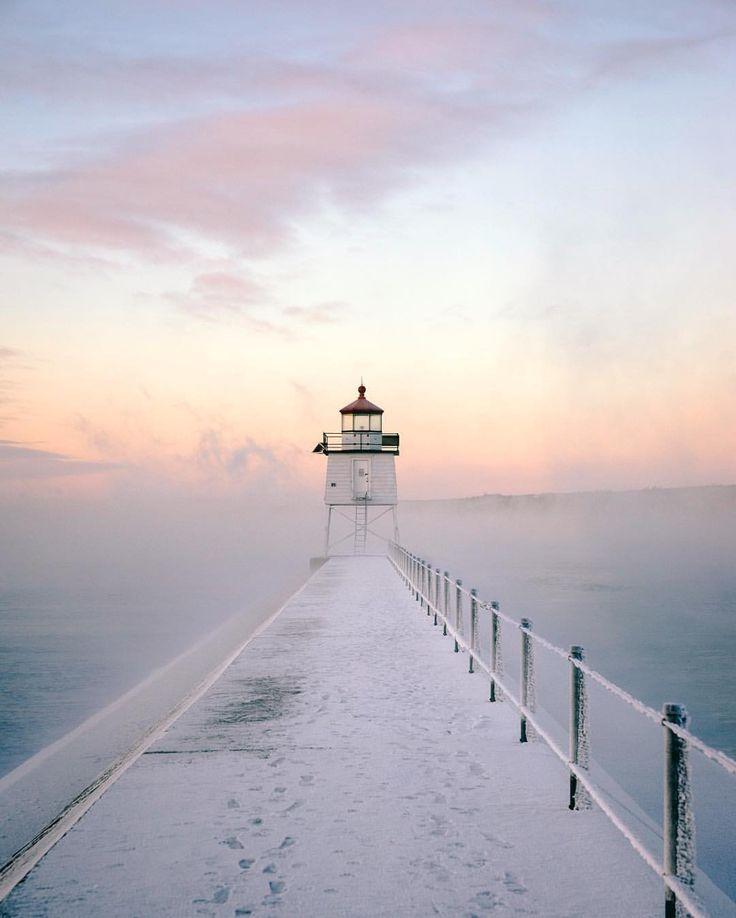 Foggy morning on Lake Superior